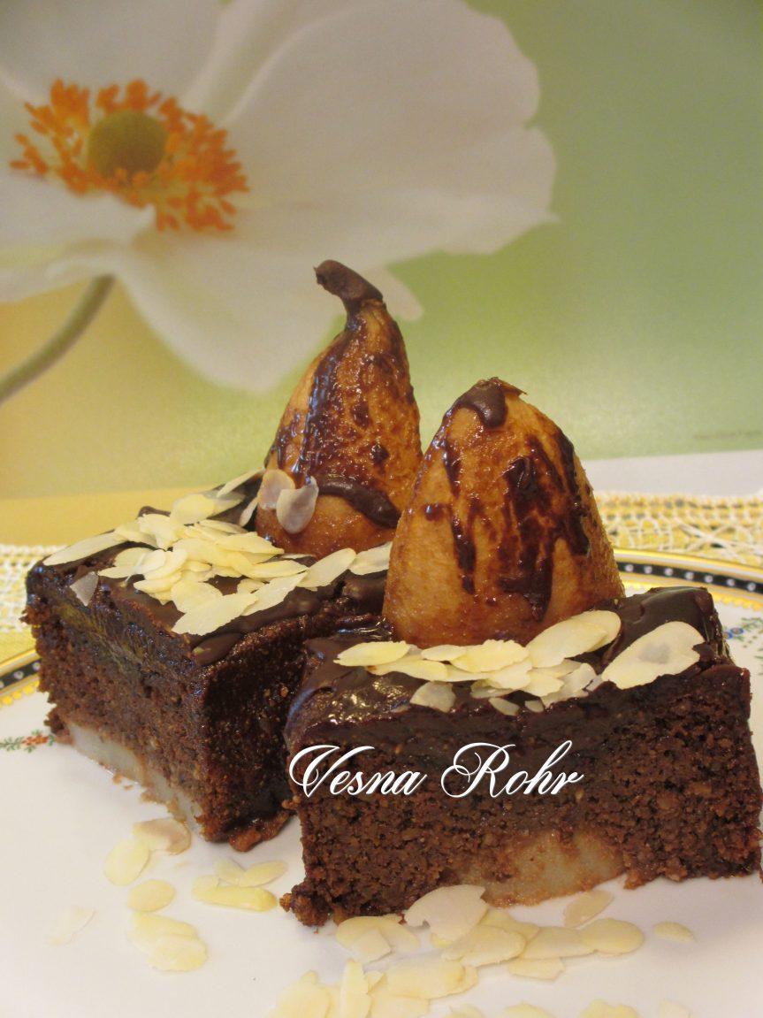 Ivin čokoladen kolač so kruša