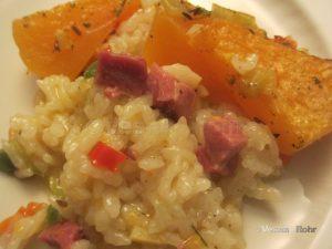 Тиква и ориз, печена тава