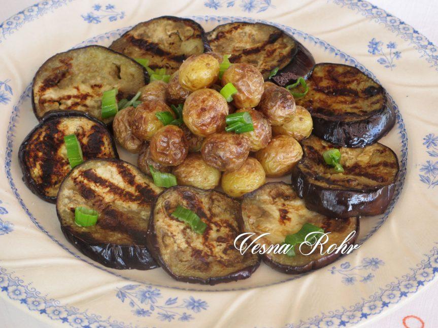 Модар патлиџан и млад компир