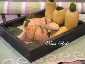 Риба со компир и спанаќ