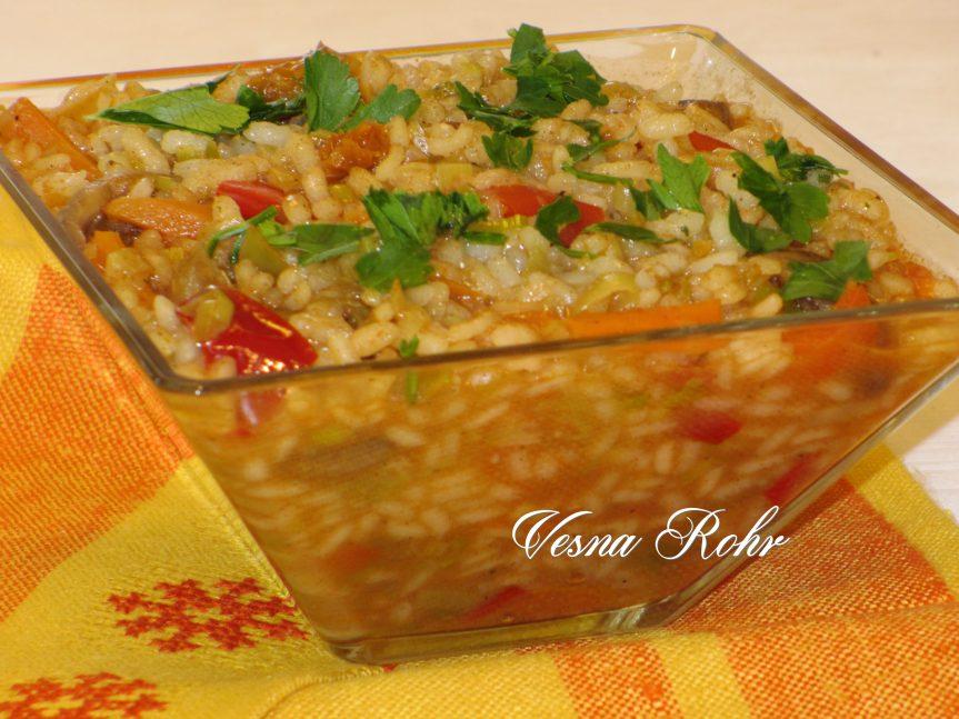 Ориз со печурки