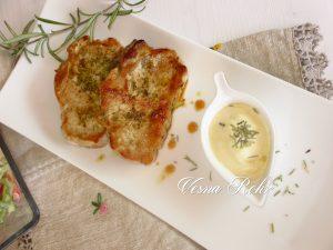 Свински кременадли со мајонез сос