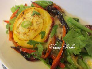 Сирење со пиперки и млад кромид